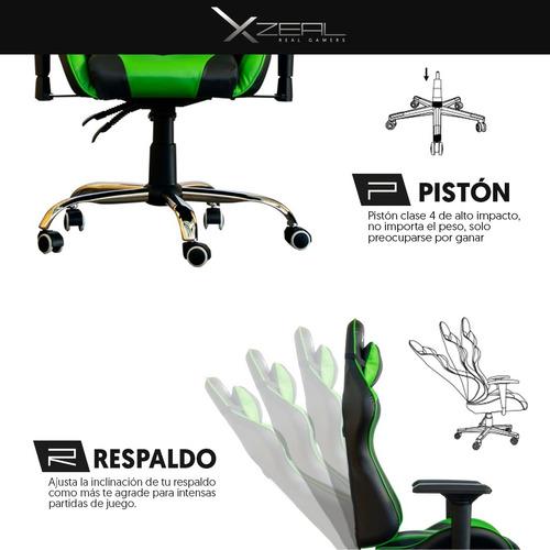 silla gamer ergonomica reclinable 200kg xzeal gaming stylos*