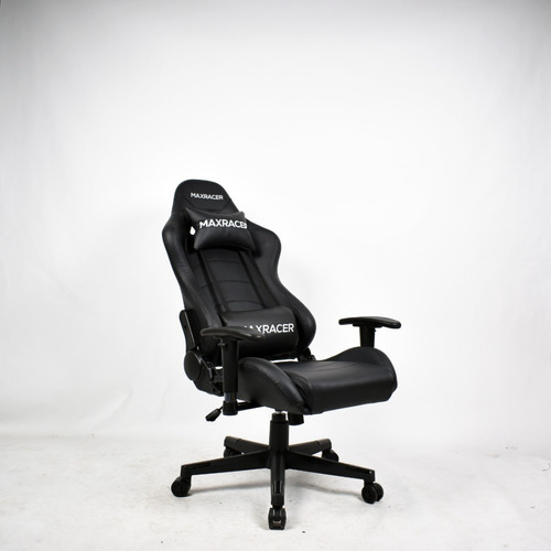 silla gamer maxracer negra playstation xbox pc