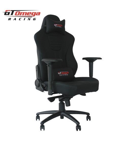 Silla gamer para oficina de piel gt omega master xl racing for Silla de oficina racing
