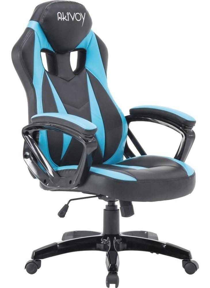Azul Gamer Escritorio Oficina Giratoria Pro Silla Gaming E9IHDW2