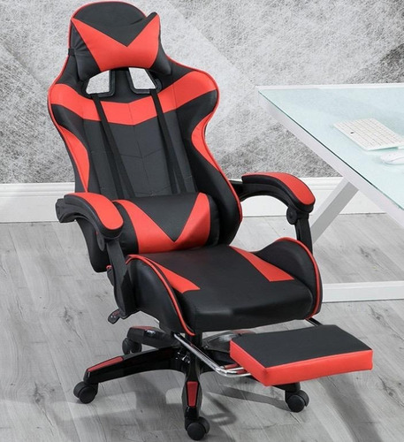 silla gamer profesional 180º de inclinación con reposa pies