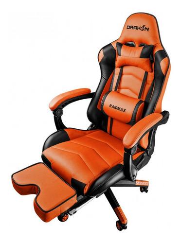 silla gamer raidmax dk-709 orange/black