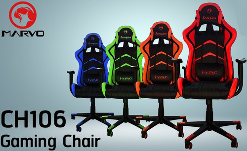 silla gamer reclinable marvo ch106 ergonómica incluye iva