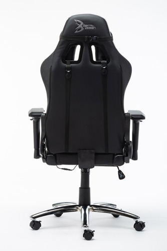 silla gamer rgb digital design master negro/gris