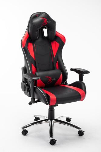 silla gamer rgb digital design master negro/rojo