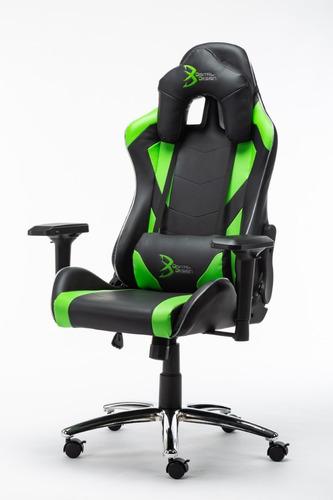 silla gamer rgb digital design master negro/verde