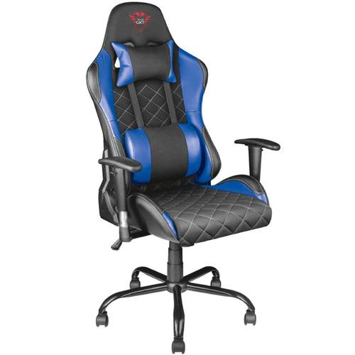 silla gamer trust resto gxt 707b azul