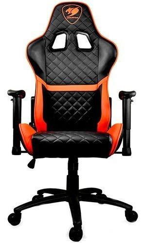 silla gaming armor one cougar black orange