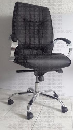 silla gerencial ergonomica cromada abullonada reclinable On silla gerencial ergonomica