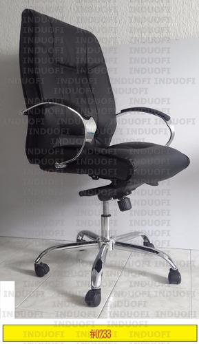 silla gerencial ergonomica cromada abullonada reclinable