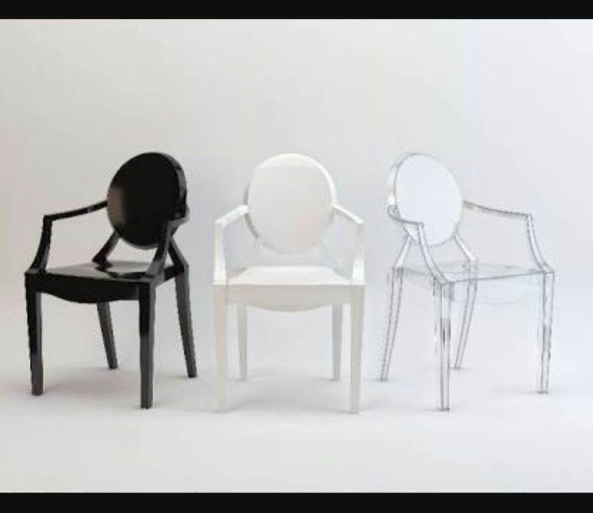 silla ghost con brazo transparente blanca negra y roja - Sillas Transparentes Baratas