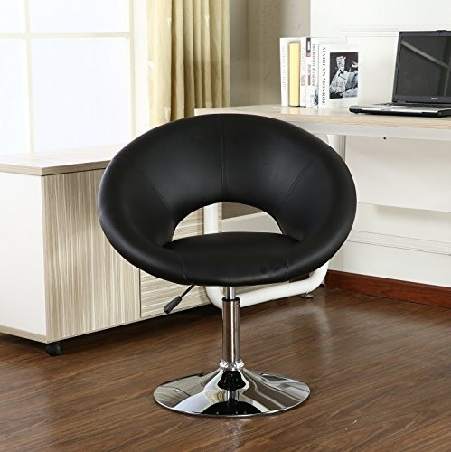 silla giratoria ajustable en gris de roundhill muebles mader
