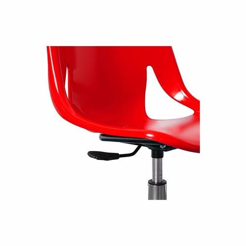 silla giratoria diseño cromado neumático nina mobilarg