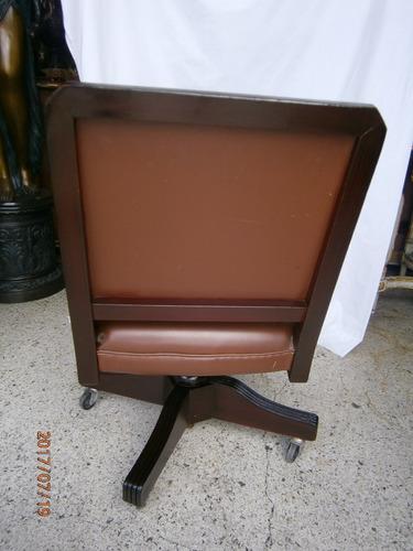 silla giratoria escritorio tapiceria cuero,