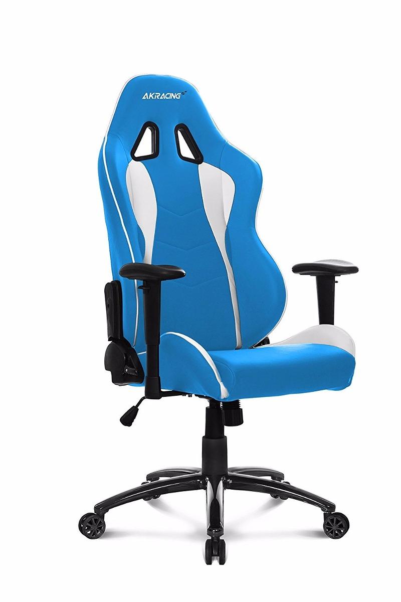 Silla giratoria oficina gamer akracing ak 5015 nitro azul for Silla de oficina racing