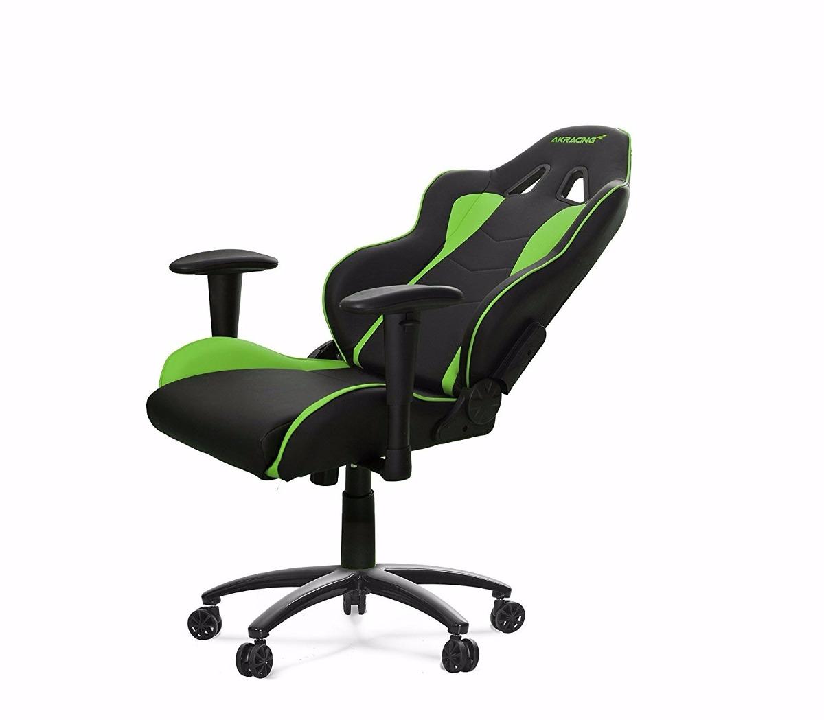 Silla giratoria oficina gamer akracing ak 5015 nitro verde for Silla de oficina racing