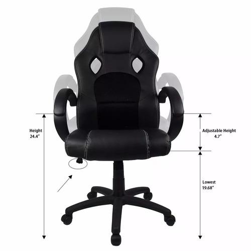 silla homall oficina c moda escritorio pc piel sint tica