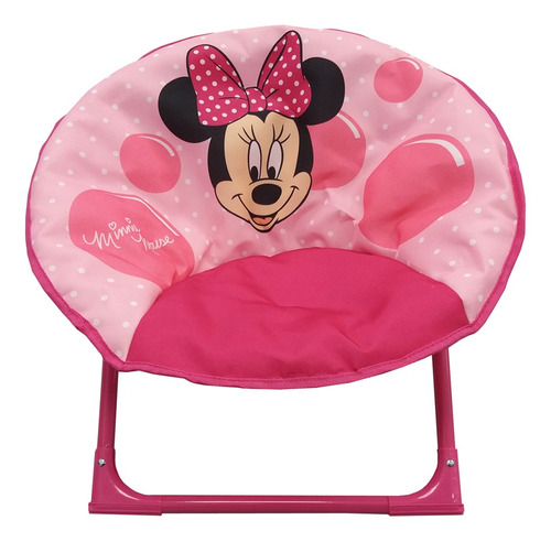 silla honguito plegable disney minnie mouse rosa