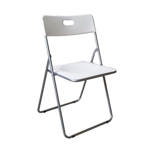 Silla Ikea Diseno Europa Metal Y Pvc Blanco Plegable Calidad 590