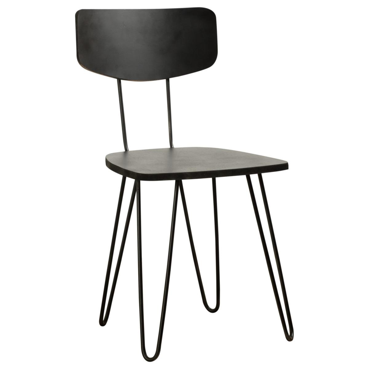 Silla Industrial Comedor Moderna Diseño Madera Y Hierro - $ 3.132,00 ...