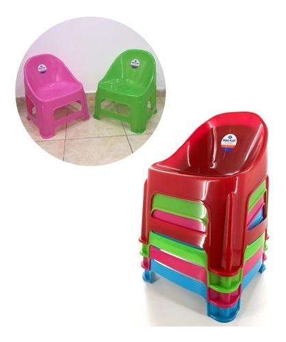 silla infantil de plástico deses plast sillón apilable  para niños niñas sillas jardín pvc resistente - 42 cm x 32 cm
