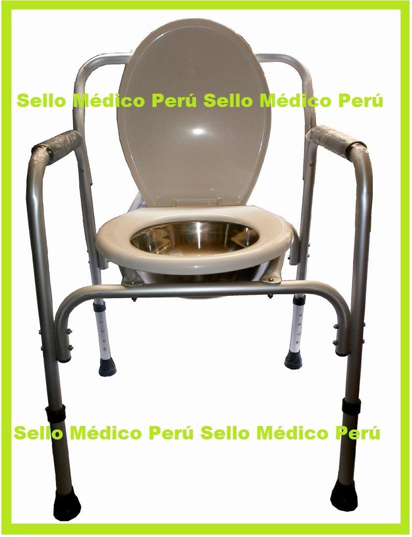 Silla Inodoro Ba O Portatil P Pacientes Regulable