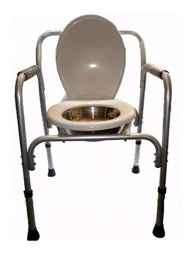 silla inodoro baño portatil p/ pacientes regulable aluminioº
