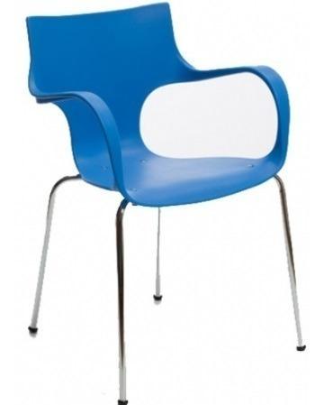 silla jim apilable base gris recepción auditorio espera
