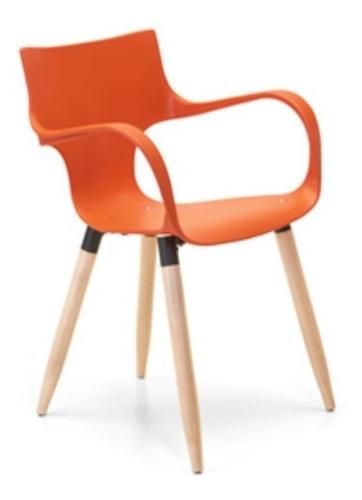 silla jim apilable wood recepción + envío sin cargo caba