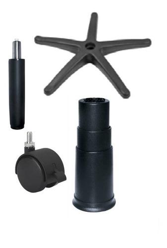 silla kit5 base presidencial+hidraulic+rueda repuest pcnolim