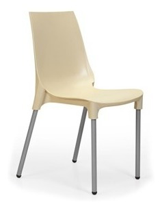silla lola x4 apilable hogar consultorio patas cromadas