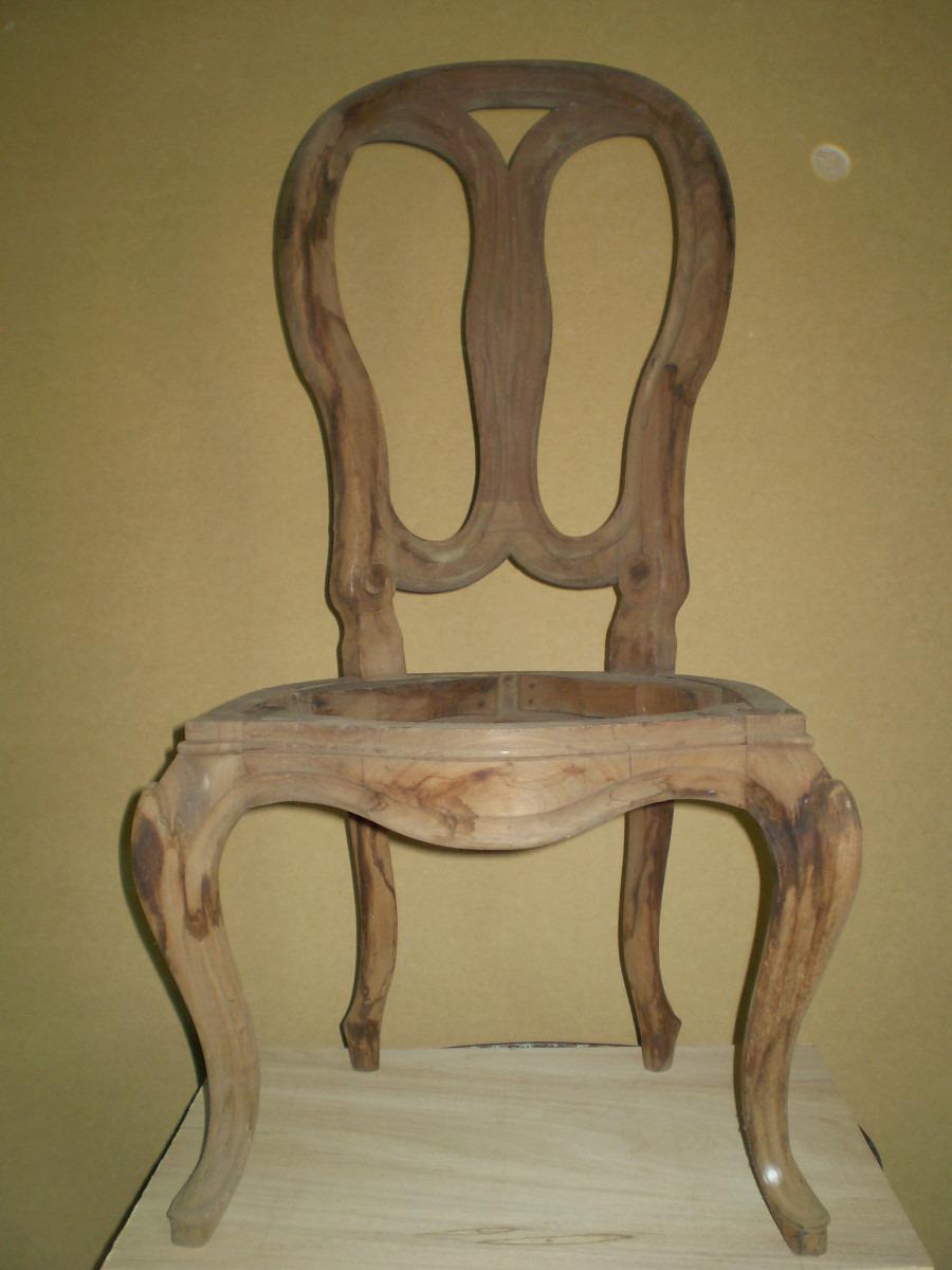 Silla luis xv elaborada en madera y en crudo bs for Sillas comedor luis xv