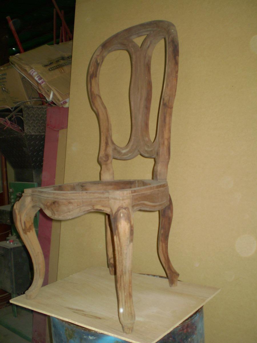 Silla luis xv elaborada en madera y en crudo bs - Sillas luis xv ...
