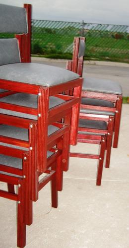 silla madera  apilable plegable abatible armado sencillo