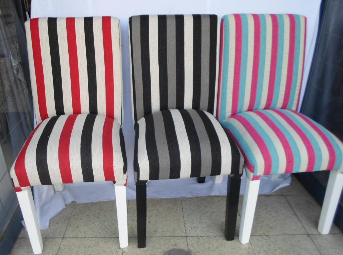 Silla Madera Forrada Tapizada En Tela Mejor Precio 799 00 En  # Muebles Faciles Liniers