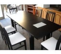 silla  madera tapizadas negras reforzada ,tela talampaya