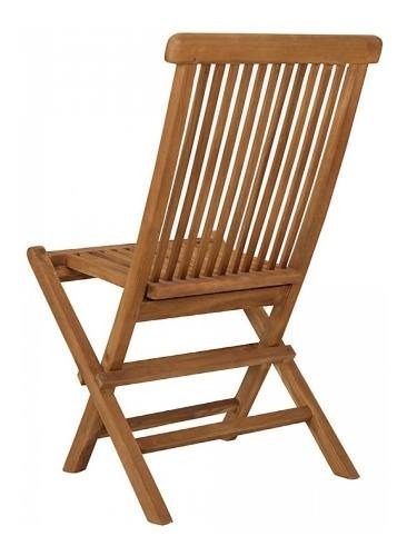silla madera teka exteriores - reposera de jardin - indonesa