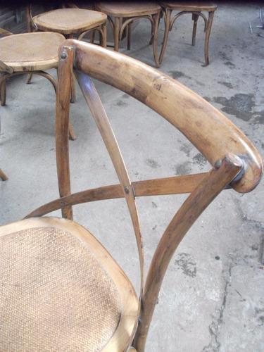 silla madera torneada de ratán, comedor, muebles