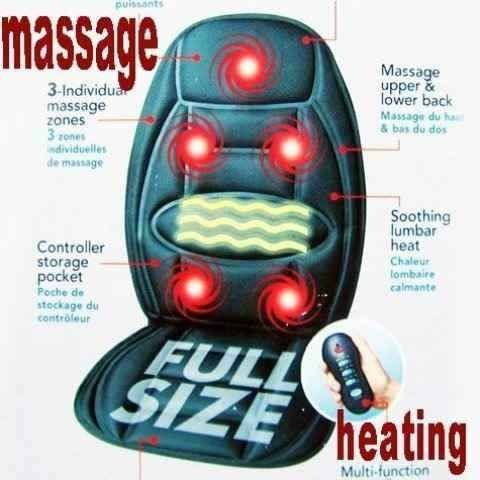 silla masajeadora portatil espalda caliente carro auto casa