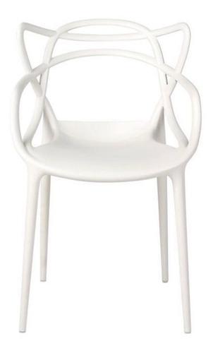 silla master blanca diseño apilable exterior interior x 4