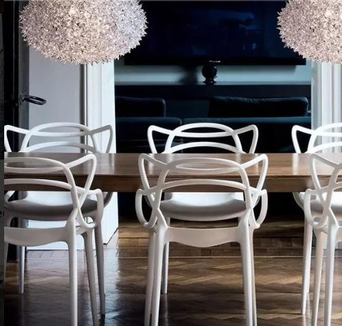 silla master comedor diseño apilable apta exterior interior