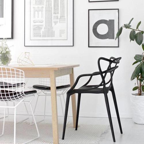 silla master plastico apilable apta exterior calidad premium