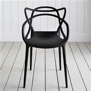silla master replica kartell rojo y negro msi