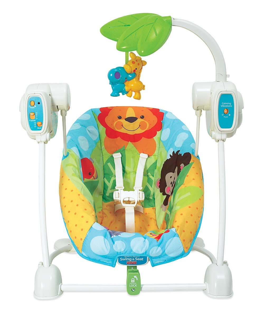 silla mecedora 2 en 1 animales de la selva fisher price