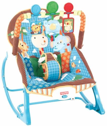 silla mecedora bebe con vibración de fisher price