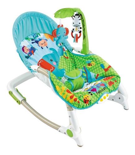 silla mecedora bebe plegable con música y vibración 18kg