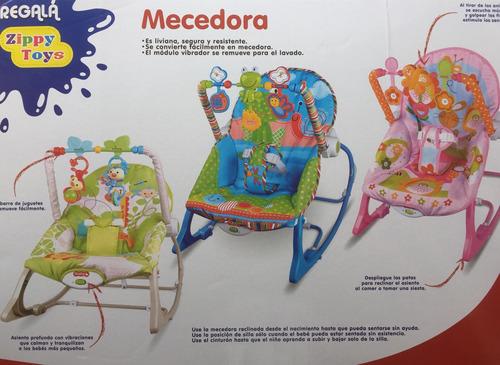 silla mecedora bebe - vibradora y móviles, envió gratis !!!