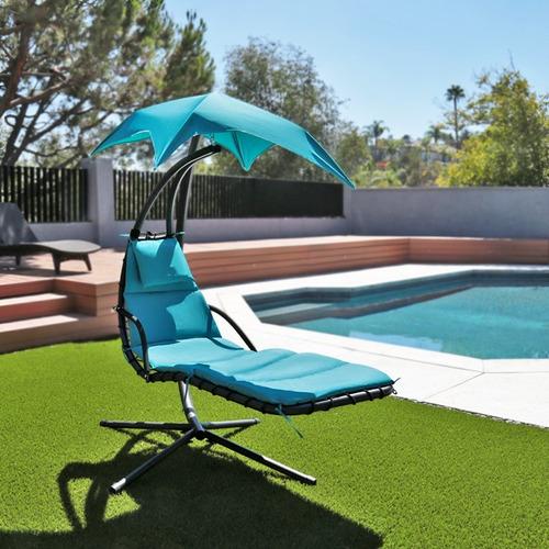 silla mecedora con sombrilla para exteriores *patio,jardín**