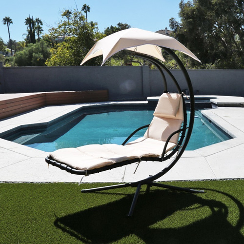 silla mecedora con sombrilla para exteriores patio,jardín
