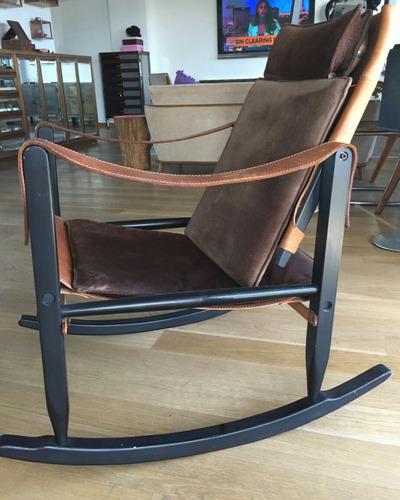 silla mecedora cuero